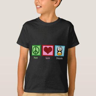 Peace Love Penguins Kids T-Shirt