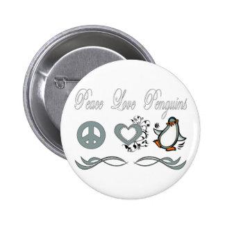 Peace Love Penguins Pin
