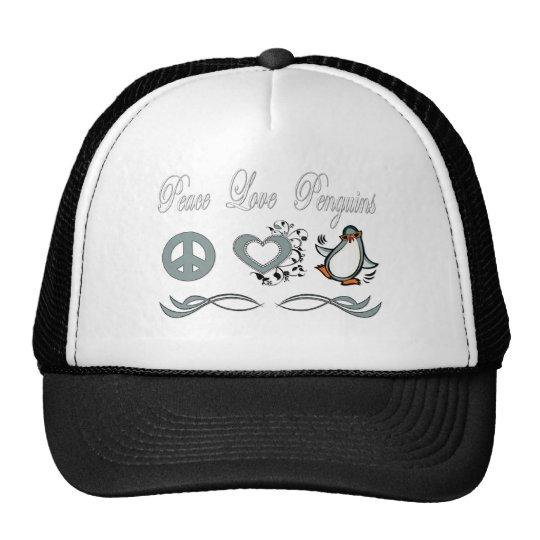 Peace Love Penguins Trucker Hat