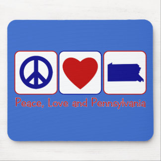 Peace Love Pennslyvania Mouse Pad