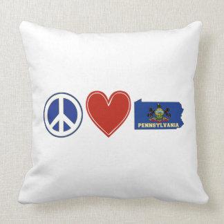 Peace Love Pennsylvania Pillows