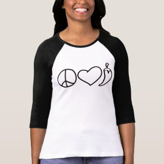 Peace Love Pepper $23.95 Womens Raglan shirt