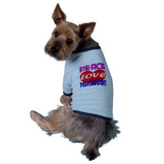 Peace Love Percussion Pet Tee Shirt