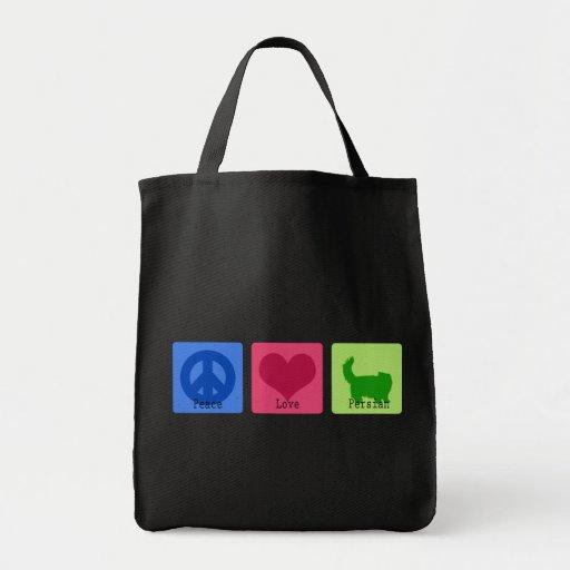 Peace Love Persian Bag