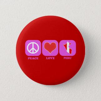 Peace Love Peru Pinback Button