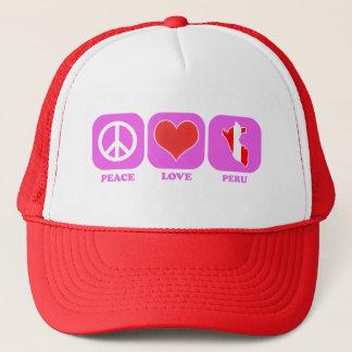 Peace Love Peru Trucker Hat