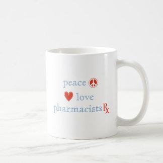 Peace Love Pharmacist Classic White Coffee Mug