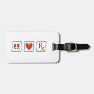 Peace Love Pharmacist Squares Luggage Tag