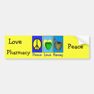 Peace Love Pharmacy Bumper Sticker