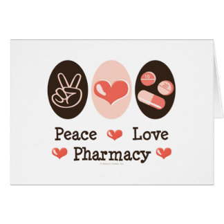 Peace Love Pharmacy Greeting Cards