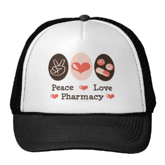 Peace Love Pharmacy Hat
