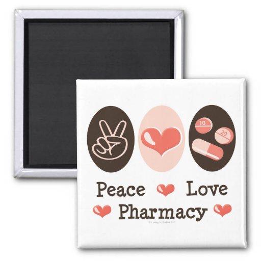 Peace Love Pharmacy Magnet