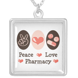 Peace Love Pharmacy Necklace