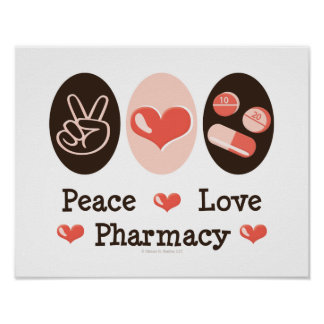 Peace Love Pharmacy Poster