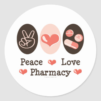 Peace Love Pharmacy Stickers