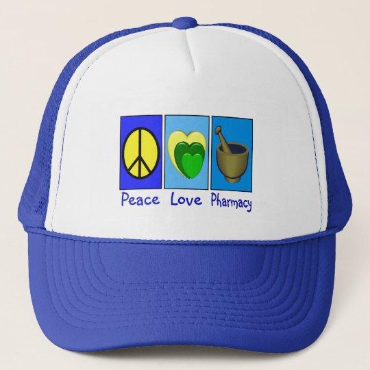 Peace Love Pharmacy Trucker Hat