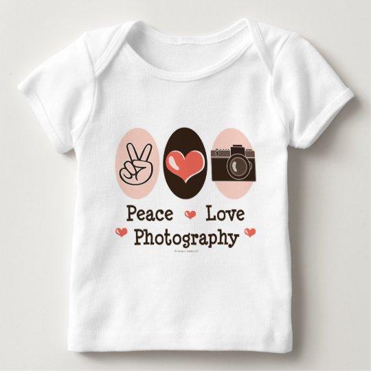 Peace Love Photography Camera Baby Long Sleeve Tee