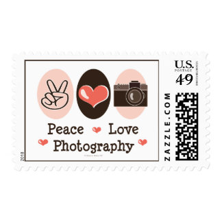 Peace Love Photography Camera Stamps