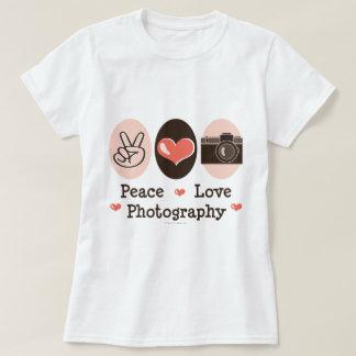 Peace Love Photography Camera T-shirt