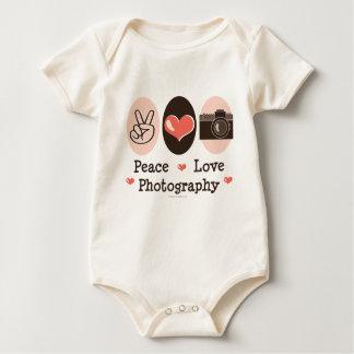 Peace Love Photography Organic Baby Bodysuit