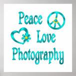 Peace Love Photography Print