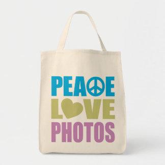Peace Love Photos Tote Bag