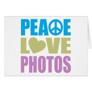 Peace Love Photos Stationery Note Card