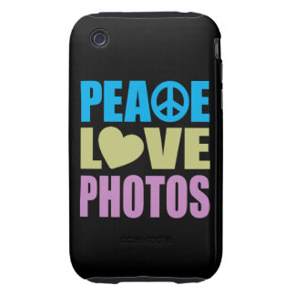 Peace Love Photos Tough iPhone 3 Covers