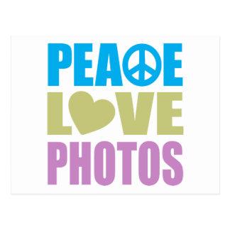 Peace Love Photos Postcard