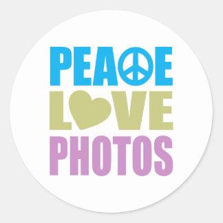 Peace Love Photos Sticker