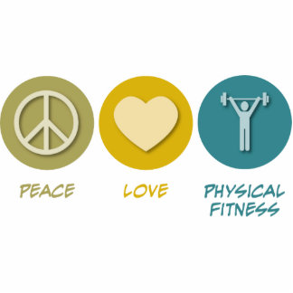 Peace Love Physical Fitness Education Cutout