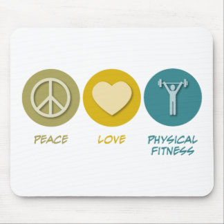 Peace Love Physical Fitness Education Mouse Pad