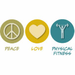 Peace Love Physical Fitness Education Photo Sculpture