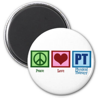 Peace Love Physical Therapist 2 Inch Round Magnet