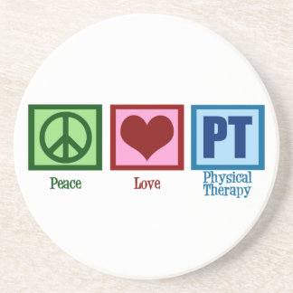Peace Love Physical Therapist Coaster