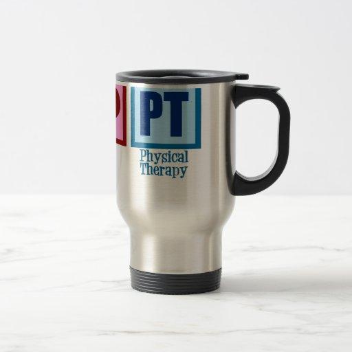Peace Love Physical Therapist Mugs