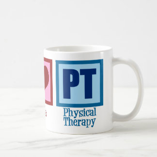 Peace Love Physical Therapist Classic White Coffee Mug