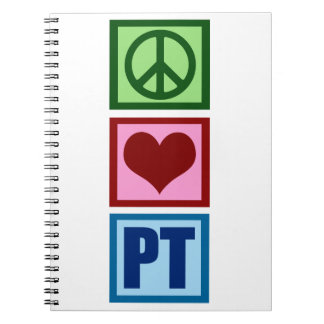 Peace Love Physical Therapist Notebooks