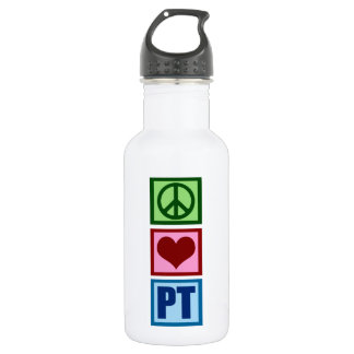 Peace Love Physical Therapist Water Bottle