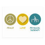 Peace Love Physical Therapy Postcard