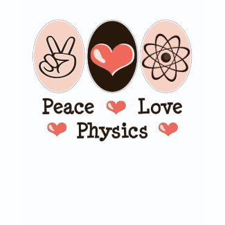 Peace Love Physics Baby Long Sleeve T shirt shirt
