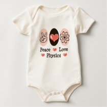 Peace Love Physics Baby One Piece Baby Bodysuit