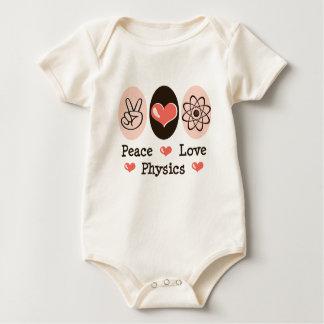 Peace Love Physics Baby One Piece Bodysuit