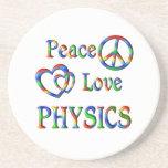 Peace Love PHYSICS Beverage Coaster