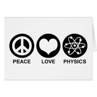 Peace Love Physics Card