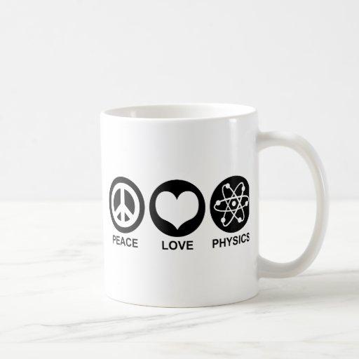 Peace Love Physics Classic White Coffee Mug