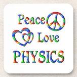 Peace Love PHYSICS Drink Coaster