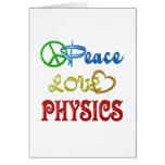 PEACE LOVE PHYSICS GREETING CARDS