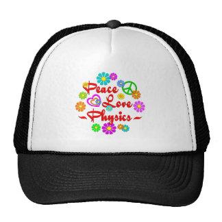 Peace Love Physics Hats