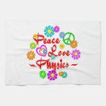 Peace Love Physics Kitchen Towel